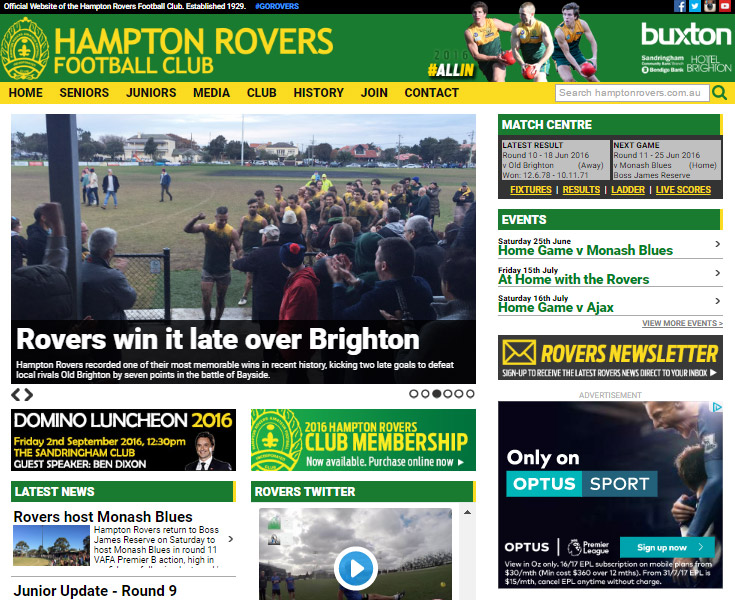 rovers-website